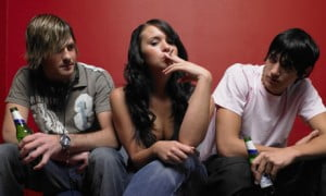 Teenagers taking drugs
